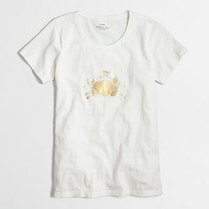 J. Crew Metallic Crab Collectors Tee - Size Small